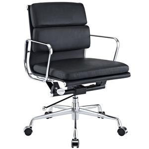 Plata Decor Lark Office Chair, Low Back and adjustable hight, Black