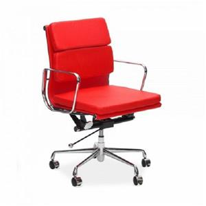 Plata Decor Lark Low Back Executive Office Chair - Red