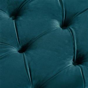 Best Selling Home Decor Cassie Ottoman - Dark Teal Velvet