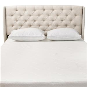 Best Selling Home Decor Lidia Tufted Fabric Headboard - Full/Queen - Off-white