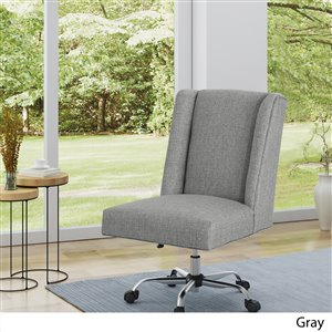 Best Selling Home Decor Sade Office Chair - Blue Grey and Chrome