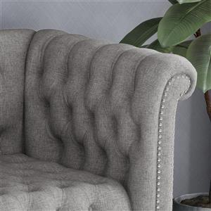 Best Selling Home Decor Barneyville Sofa with Tufted Cushions - Grey