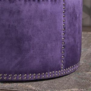 Best Selling Home Decor Jackson Ottoman - Purple Velvet