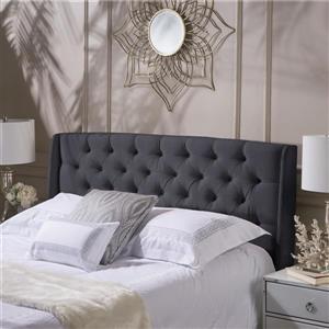 Best Selling Home Decor Parquet Tufted Fabric Headboard - King/Cal King - Dark Grey