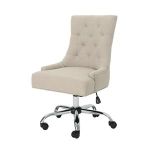 Best Selling Home Decor Ishtar Office Chair - Beige and Chrome