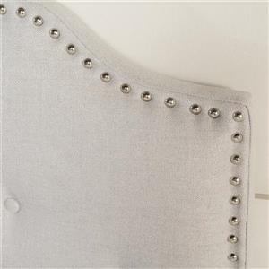 Best Selling Home Decor Topanga Fabric Headboard - Full/Queen - Gray