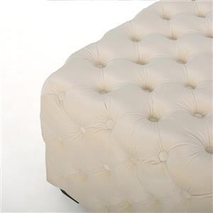 Best Selling Home Decor Athena Square Ottoman - Cream