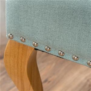 Best Selling Home Decor Bunny Tufted Wingback Loveseat - Fabric - Light Blue