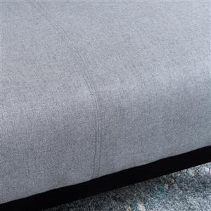 Best Selling Home Decor Danae Settee - Fabric - Grey
