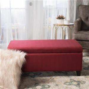 Best Selling Home Decor Donna Fabric Storage Ottoman - Red