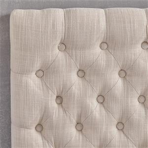 Best Selling Home Decor Rutherford Tufted Fabric Headboard - Full/Queen - Off-white