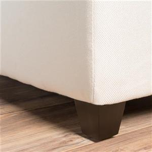 Best Selling Home Decor Brenda Fabric Storage Ottoman - Off-white