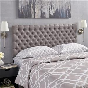 Best Selling Home Decor Rutherford Tufted Fabric Headboard - King/Cal King - Gray