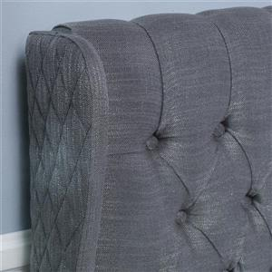 Best Selling Home Decor Johnston Tufted Fabric Headboard - King/Cal King - Gray