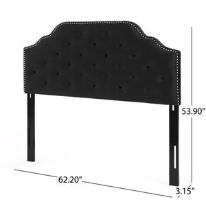 Best Selling Home Decor Topanga Glam Velvet Headboard - Full/Queen - Black