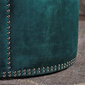 Best Selling Home Decor Josh Ottoman - Dark Green Velvet