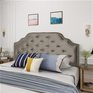 Best Selling Home Decor Topanga Glam Velvet Headboard - Full/Queen - Gray
