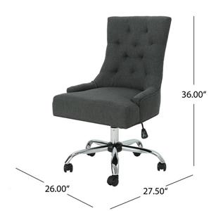 Best Selling Home Decor Ishtar Office Chair - Dark Gray and Chrome
