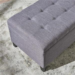 Best Selling Home Decor Agatha Fabric Storage Ottoman - Gray