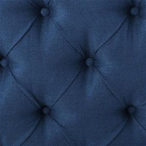 Best Selling Home Decor Parquet Tufted Fabric Headboard - King/Cal King - Blue