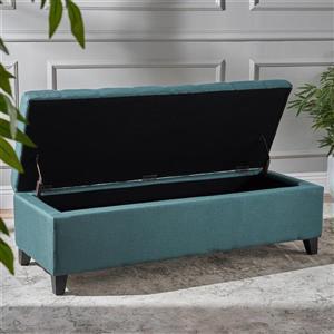 Best Selling Home Decor Agatha Fabric Storage Ottoman - Green