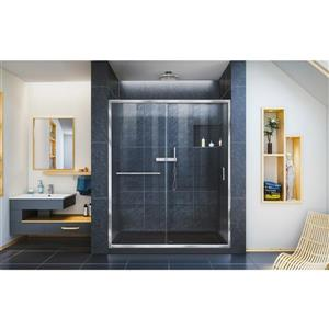 DreamLine Infinity-Z Alcove Shower Kit - 34-in x 60-in - Center - Chrome