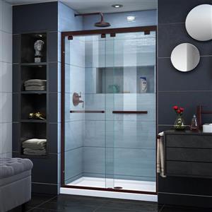 DreamLine Encore Alcove Shower Kit - 32-in x 48-in - Center Drain - Bronze