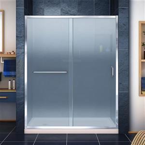 DreamLine Infinity-Z Alcove Shower Kit - 36-in x 60-in - Left Drain - Chrome