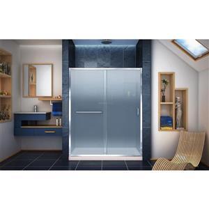 DreamLine Infinity-Z Alcove Shower Kit - 30-in x 60-in - Center Drain - Chrome