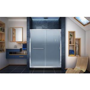 DreamLine Infinity-Z Alcove Shower Kit - 30-in x 60-in - Right Drain - Chrome
