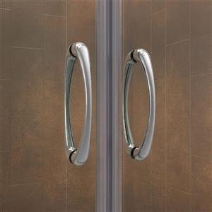 DreamLine Visions Alcove Shower Kit - 34-in x 60-in - Left Drain - Nickel