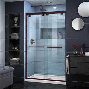 DreamLine Encore Alcove Shower Kit - 36-in x 48-in - Center Drain - Bronze