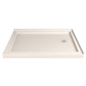 DreamLine SlimLine Rectangle Corner Shower Base - 36-in x 48-in- Off-white