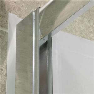 DreamLine Visions Alcove Shower Kit - 36-in- Left Drain - Brushed Nickel