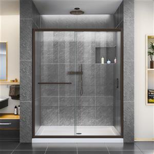 DreamLine Infinity-Z Alcove Shower Kit - 32-in x 54-in - Dark Bronze