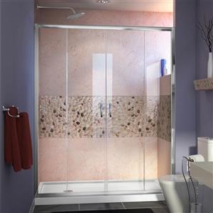 DreamLine Visions Alcove Shower Kit - 36-in x 60-in- Semi-Frameless - Chrome