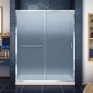 DreamLine Infinity-Z Alcove Shower Kit - 34-in - Semi-Frameless - Chrome