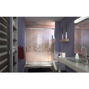 DreamLine Visions Alcove Shower Kit - 32-in x 60-in- Acrylic Base - Chrome