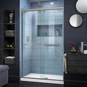 DreamLine Encore Alcove Shower Kit - 36-in - Center - Nickel