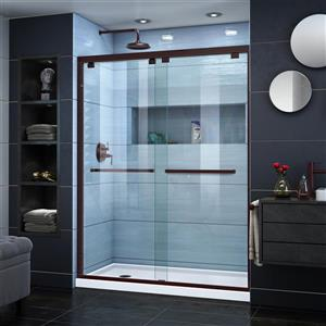 DreamLine Encore Alcove Shower Kit - 32-in x 60-in- Left Drain - Dark Bronze
