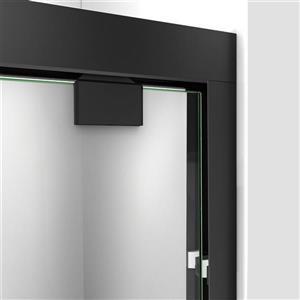 DreamLine Encore Alcove Shower Kit - 36-in x 60-in - Right Drain - Black