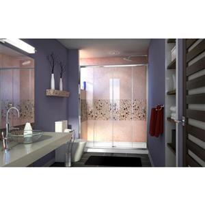 DreamLine Visions Alcove Shower Kit - 36-in - Center Drain - Chrome