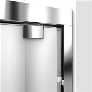 DreamLine Alcove Shower Kit - 32-in x 48-in- Center Drain - Chrome