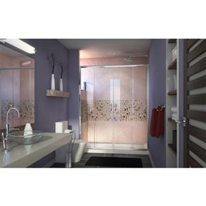 DreamLine Visions Alcove Shower Kit - 30-in x 60-in- Right Drain