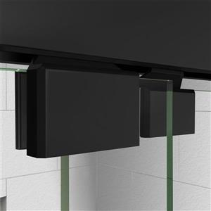 DreamLine Encore Alcove Shower Kit - 30-in x 60-in - Right Drain - Black