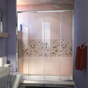 DreamLine Alcove Shower Kit - 32-in - Glass Panels - Chrome
