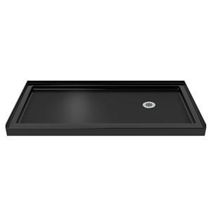 DreamLine Visions Alcove Shower Kit - 32-in x 60-in - Right Drain - Chrome