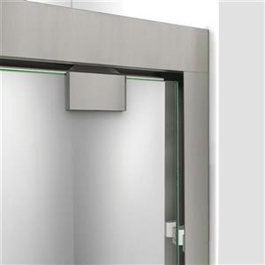 DreamLine Encore Alcove Shower Kit - 36-in- Right Drain - Brushed Nickel