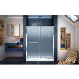 DreamLine Infinity-Z Alcove Shower Kit - 32-in- Left Drain Base - Chrome