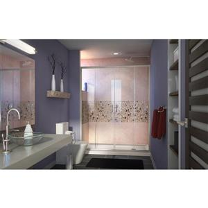 DreamLine Visions Alcove Shower Kit - 36-in - Right Drain - Nickel